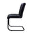 Shilo Goat Leather Side Chair in Black