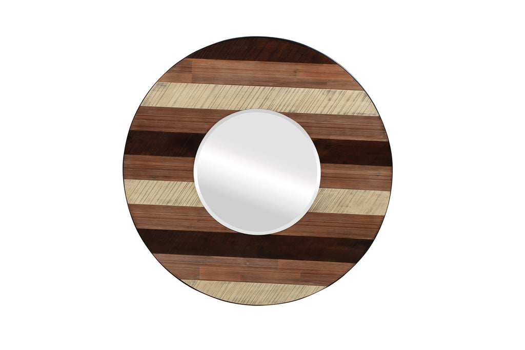 Medley Wall Mirror in Multi-tone Natural Finish