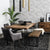 Casual Modern 6-Seat Dining Table in Multi-tone Natural Finish