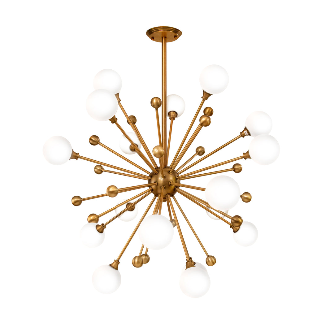 Lucci 18-Bulb White Glass Chandelier