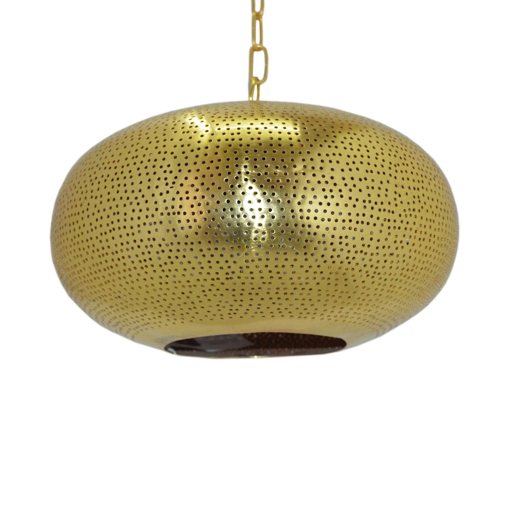 "Bois et Cuir's ""Kenitra Lamp Tyre"" Single-Bulb Medium Pendant Lamp—Gold"