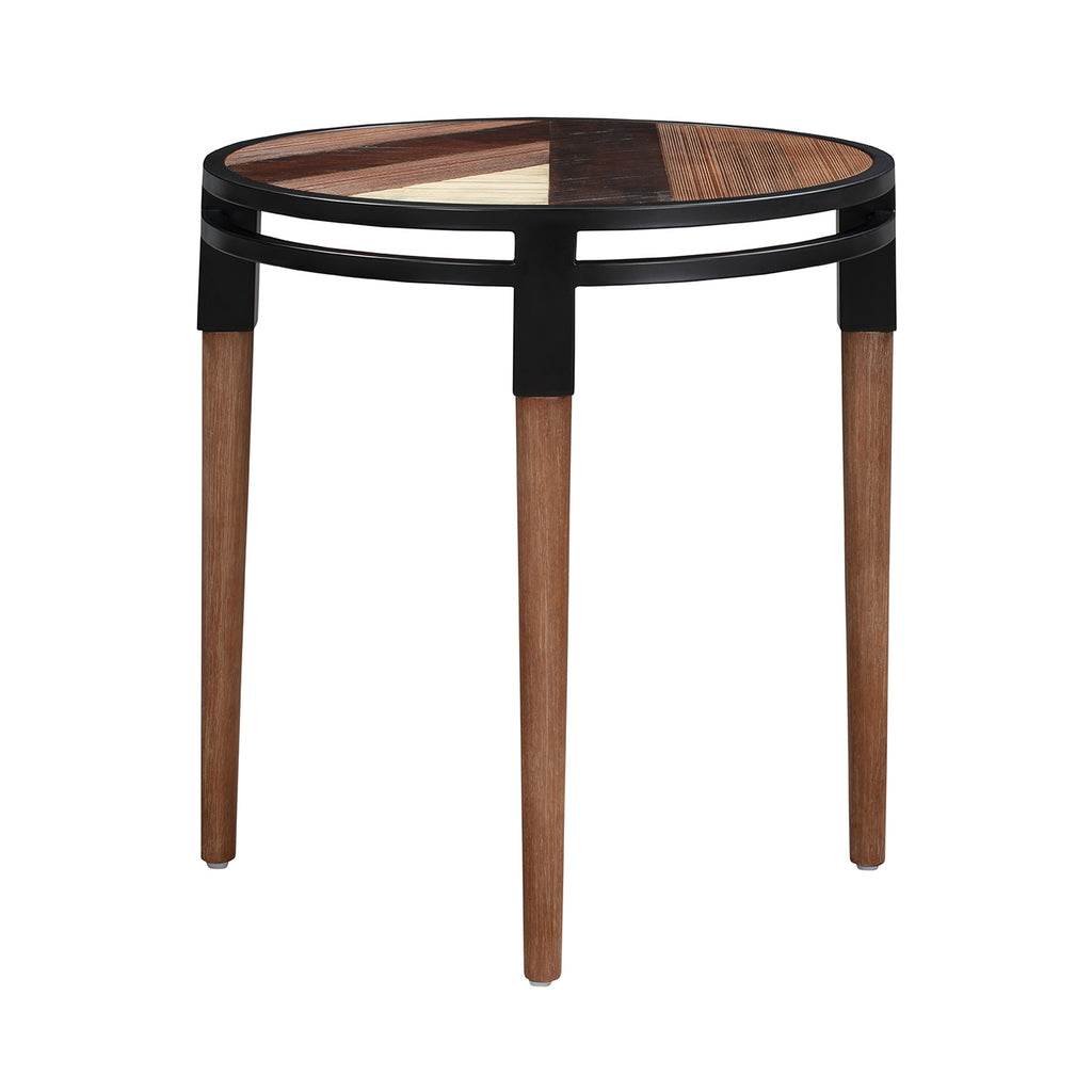 Bois et Cuir's Medley Series End Table in Multi-Tone Natural Finish