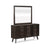 Paris Wall Mirror in Espresso Finish