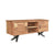 Bois et Cuir's Streamline Series Home Media Unit in Dark Brown Finish