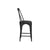 Industrial Dining Chair—Distressed Metal in Black—Tall