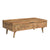 Clio Wood Coffee Table in Light Honey Finish