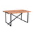 Railwood 6-Seat Dining Table in Mid-tone Brown Finish