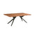 Bois et Cuir's Streamline Series 8-Seat Dining Table in Dark Brown Finish