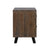Holden 2-Drawer Nightstand in Dark Brown Finish