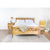 Clio Bed Frame in Light Honey Finish
