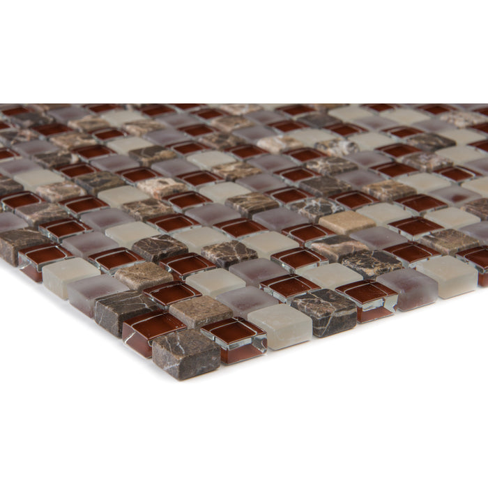 Marmor Java Glasmix Bordeuaux Beige