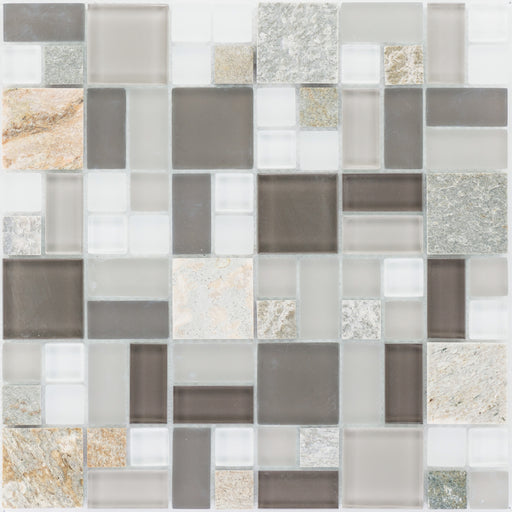 Quarzit Beige Color Glasmix Brown Grey White