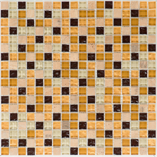 Venezia / Yellowstone Glas Gold Beige Brown