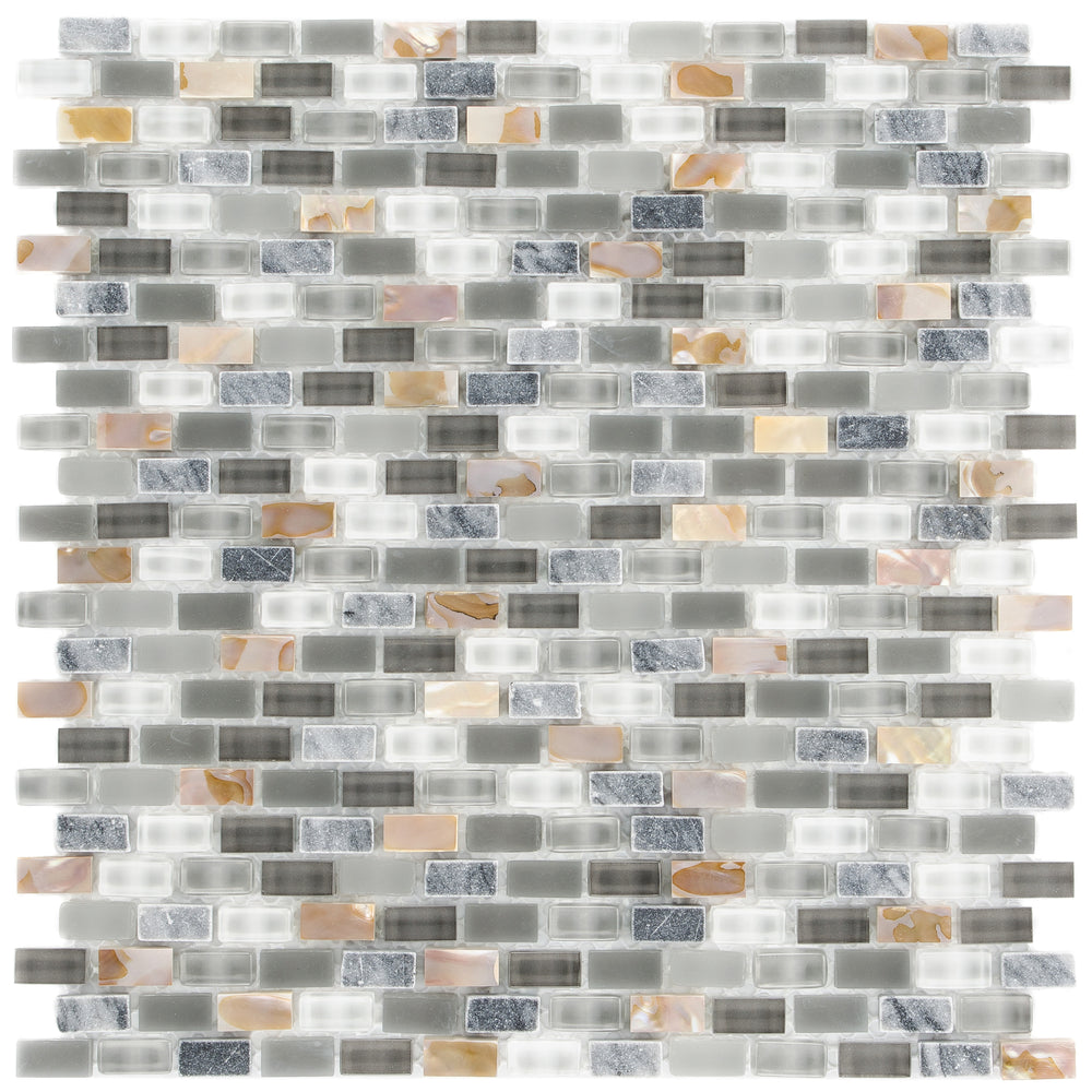 Glas & Mamor Mosaik 5th Avenue Grey Mix Seashell - FliesenDeal24 - Fliesen günstig kaufen