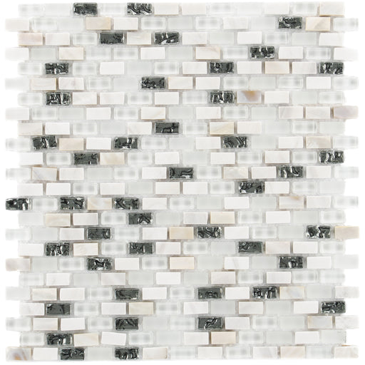 Glas & Mamor Mosaik 5th Avenue White Mix Seashell - FliesenDeal24 - Fliesen günstig kaufen