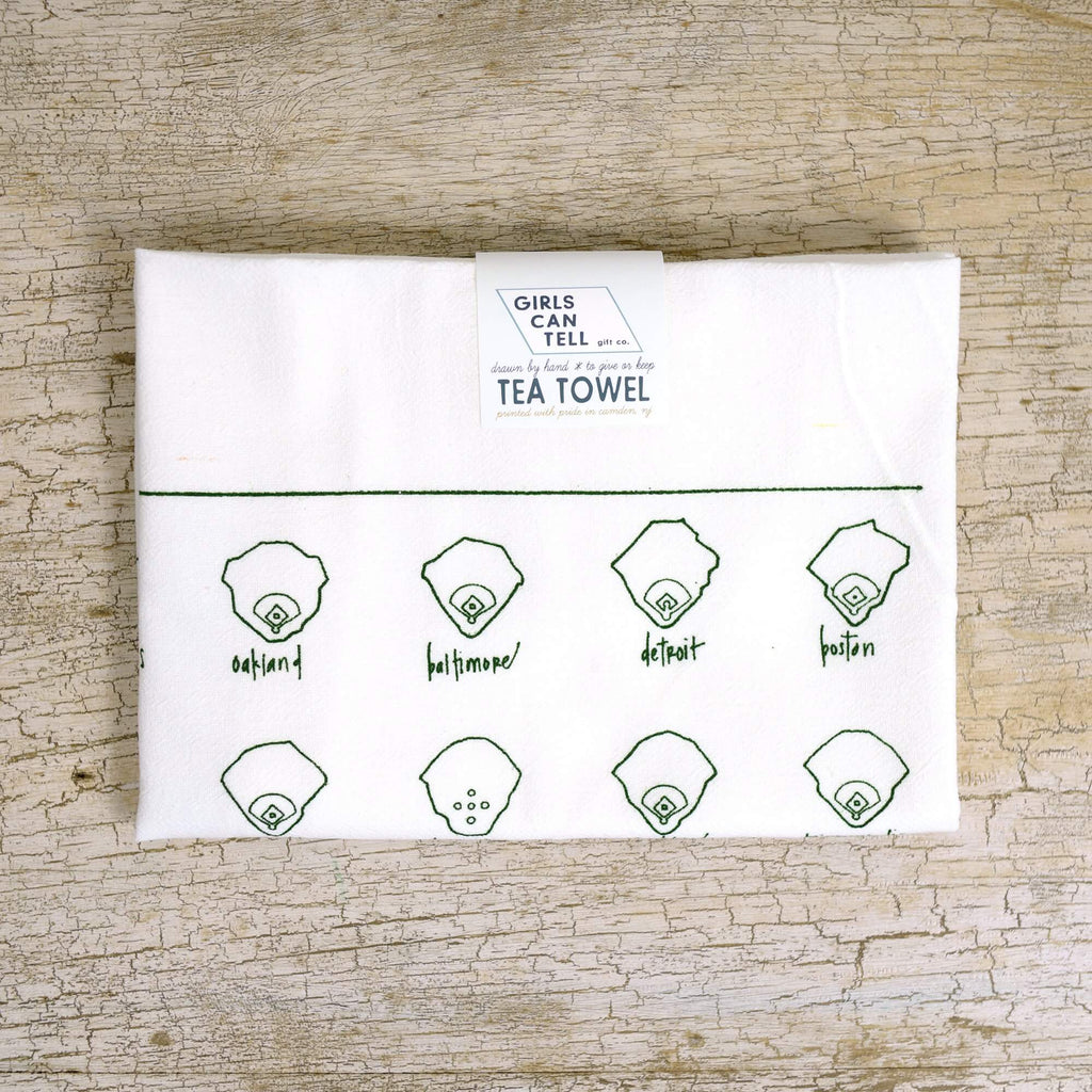 Baseball Fields Tea Towel - American League