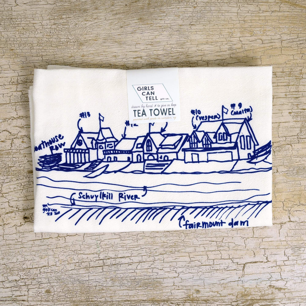 Boathouse Row Tea Towel