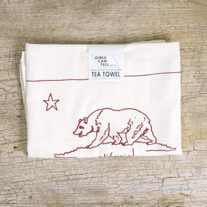 California Flag Tea Towel