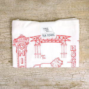 Chicago Landmarks Tea Towel