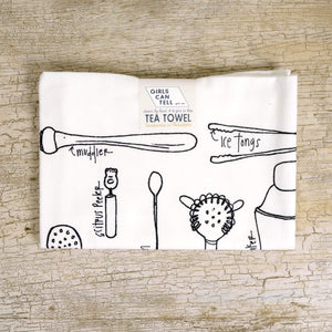 Cocktail Tools Tea Towel