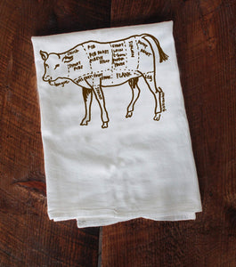 Cow tea towels