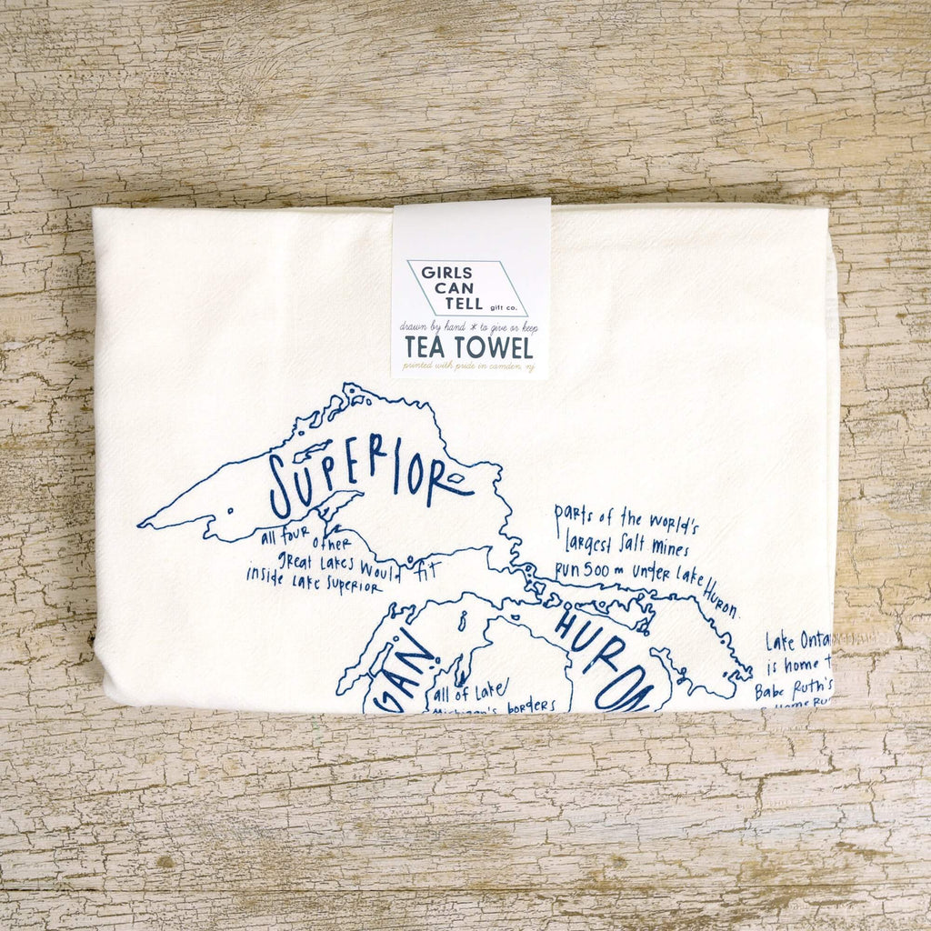 Great Lakes Tea Towel