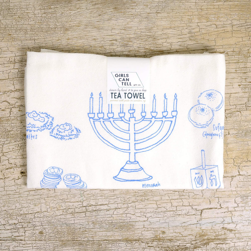 Hanukkah Tea Towel
