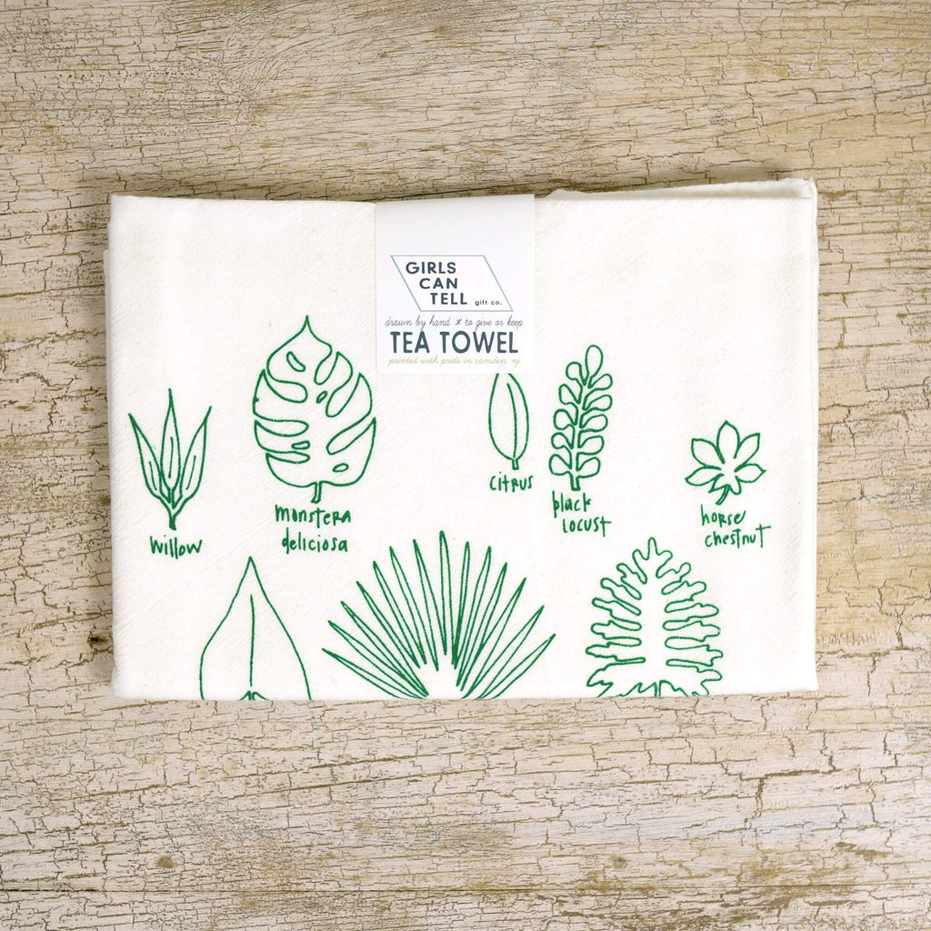 Houseplants Tea Towel