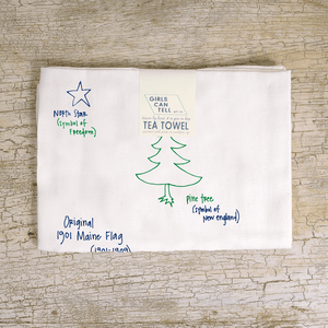 Maine tea towel