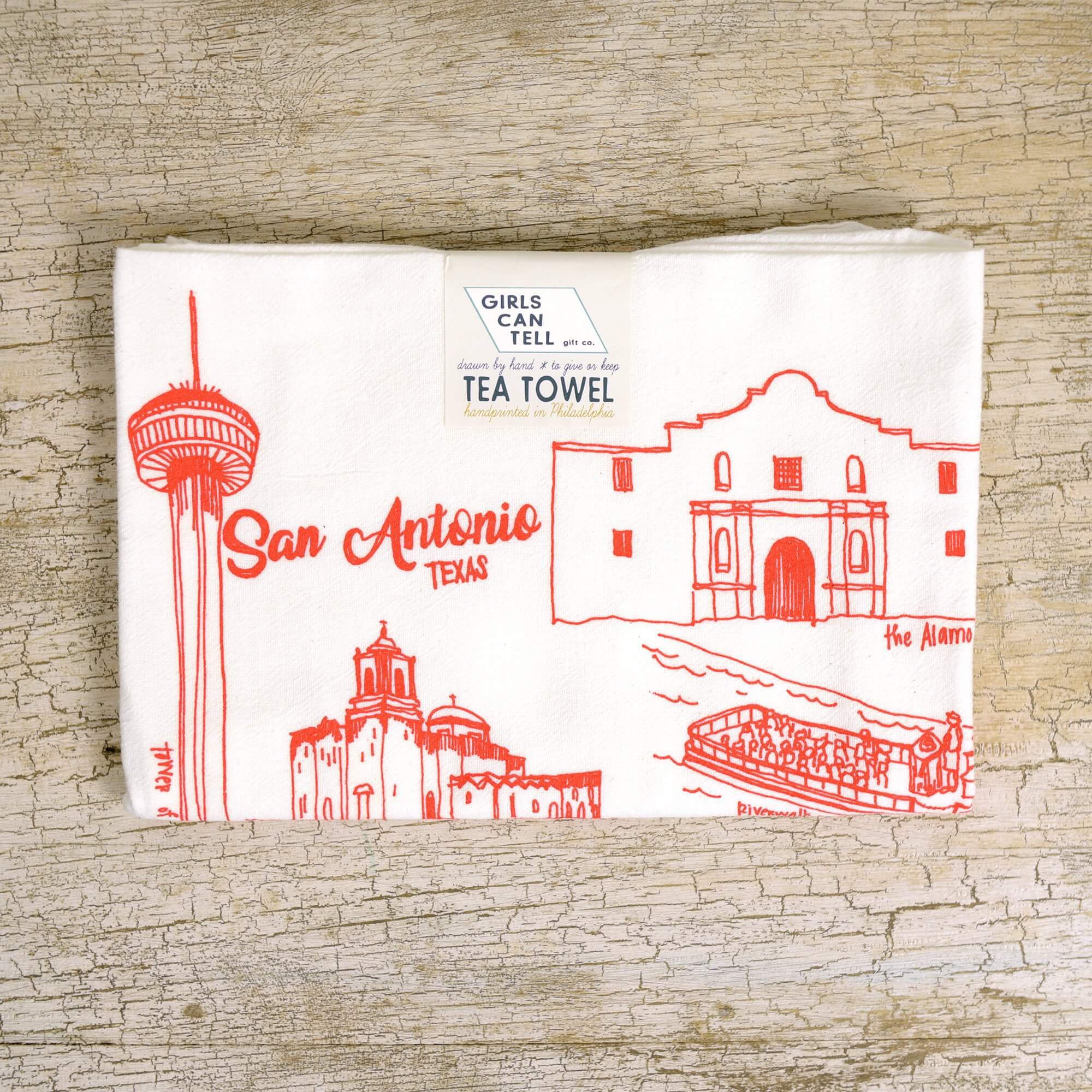 San Antonio Tea Towel