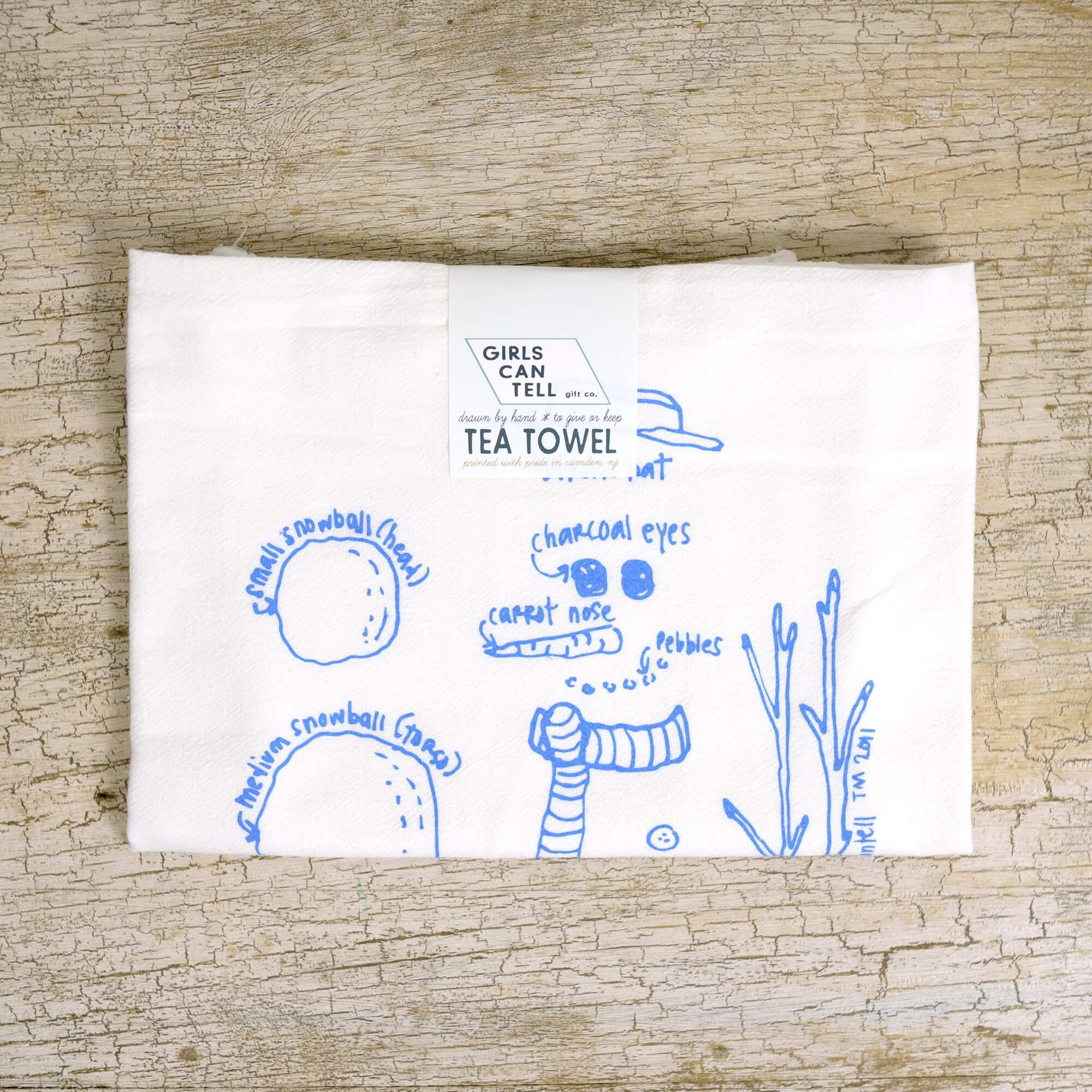 Snowman Tea Towel