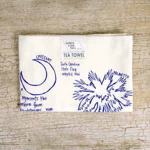 South Carolina Flag Tea Towel