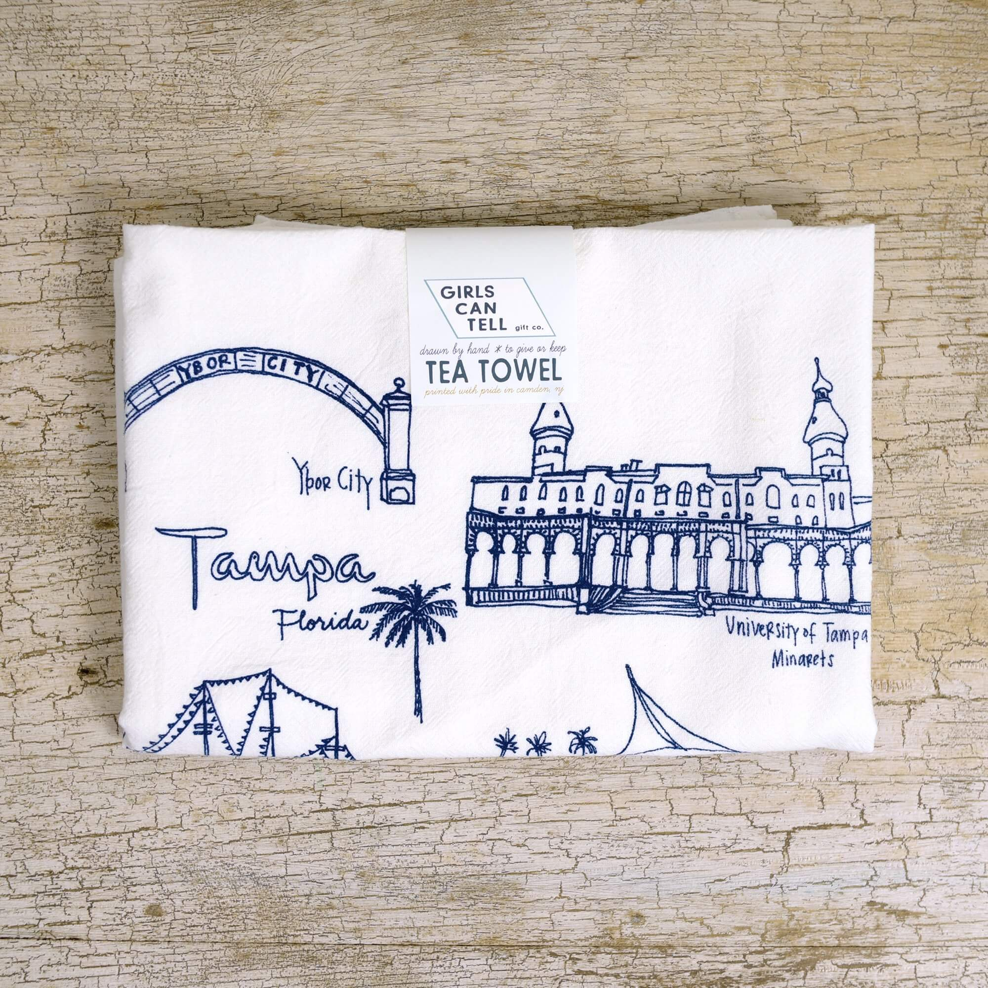 Tampa Florida Tea Towel