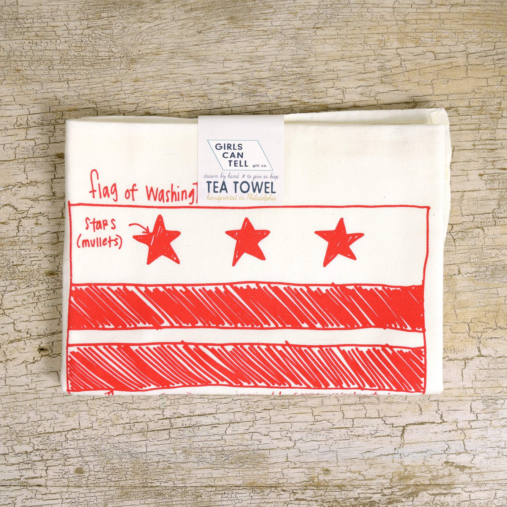 Washington DC Flag Tea Towel