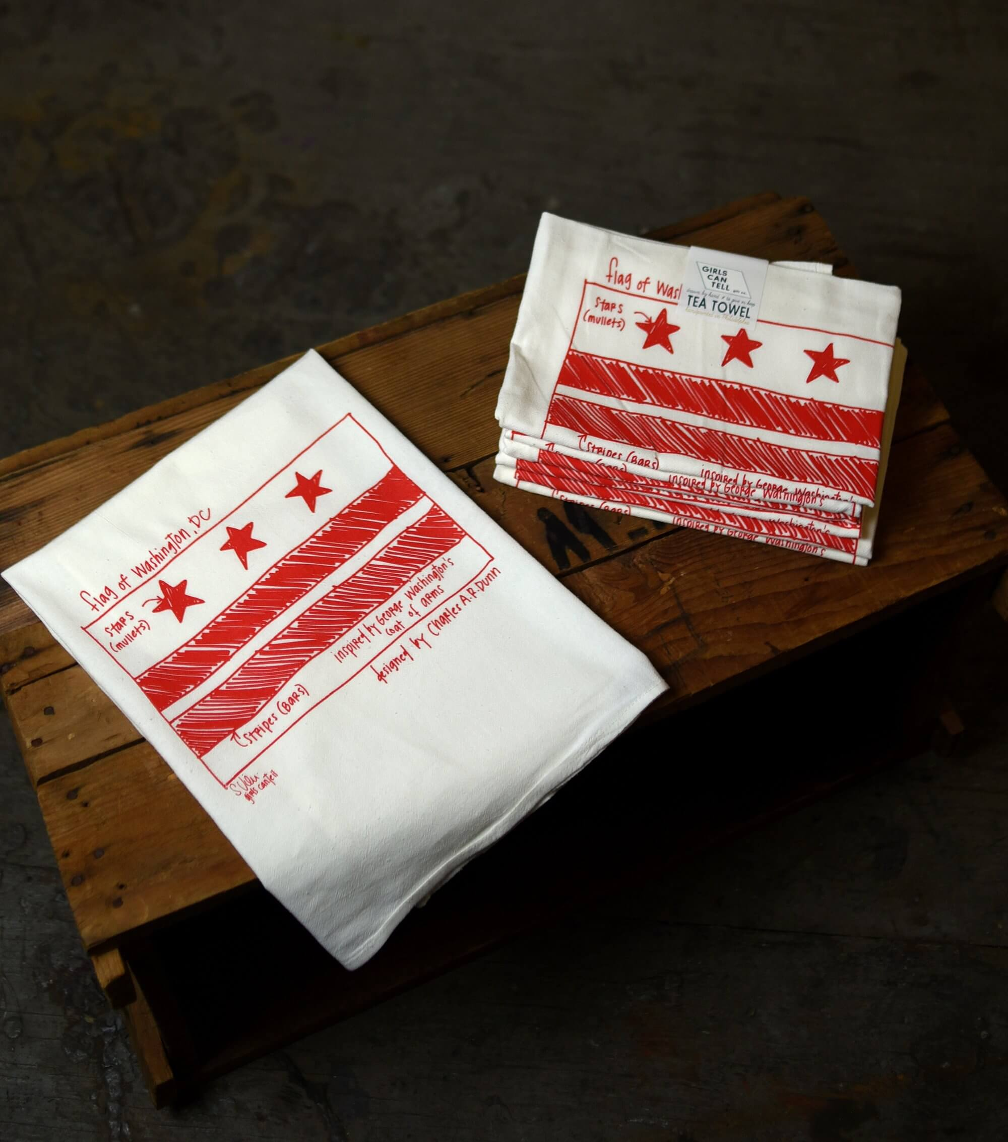 Washington DC Flag Tea Towels