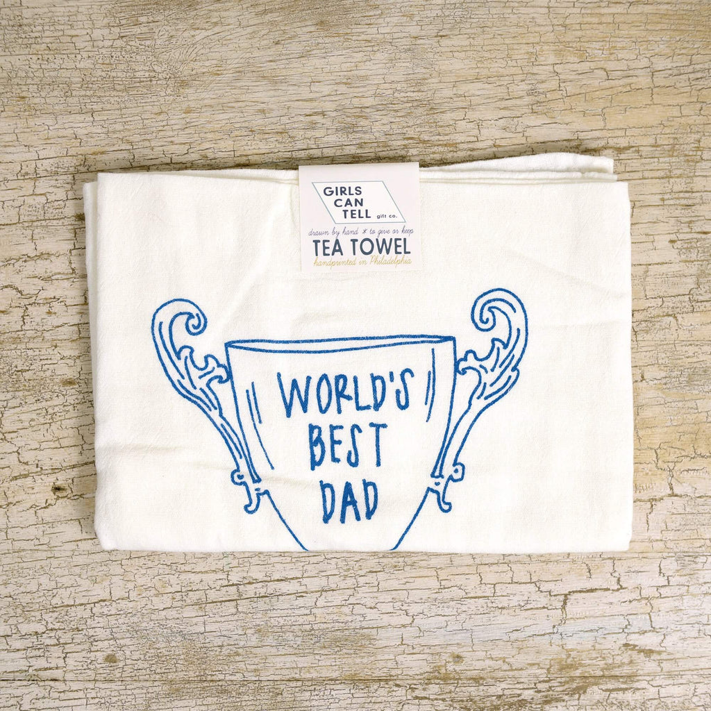 World's Best Dad tea towel
