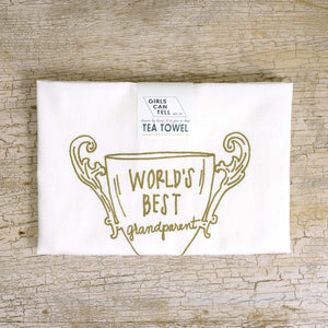 World's Best Grandparent tea towel