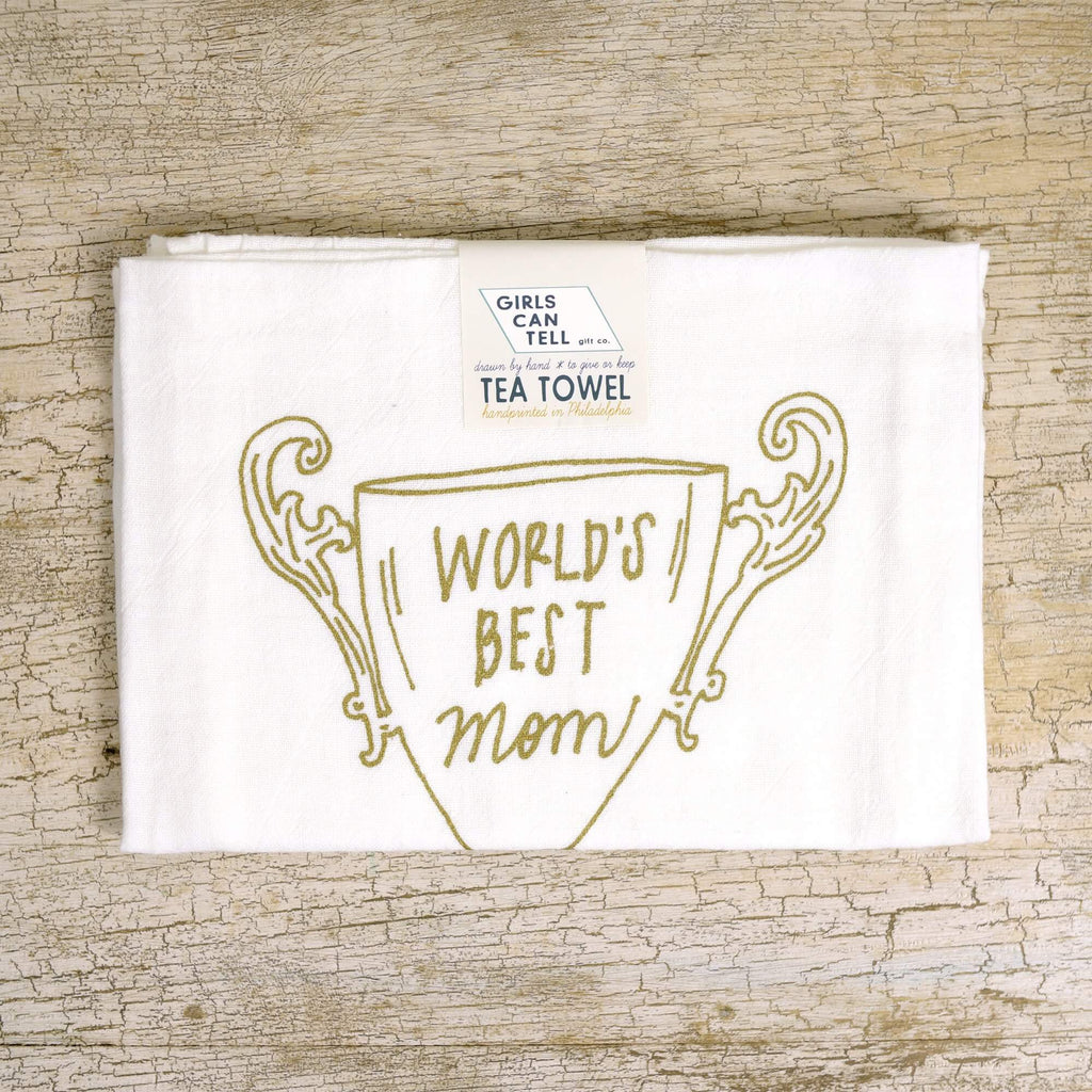World's Best Mom tea towel
