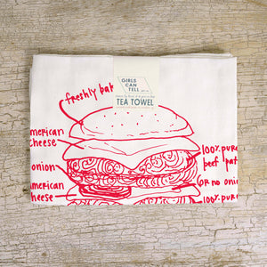 Burger Tea Towel