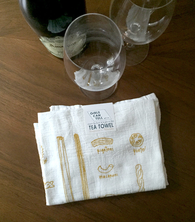Pasta Tea Towel