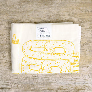 pretzel tea towel