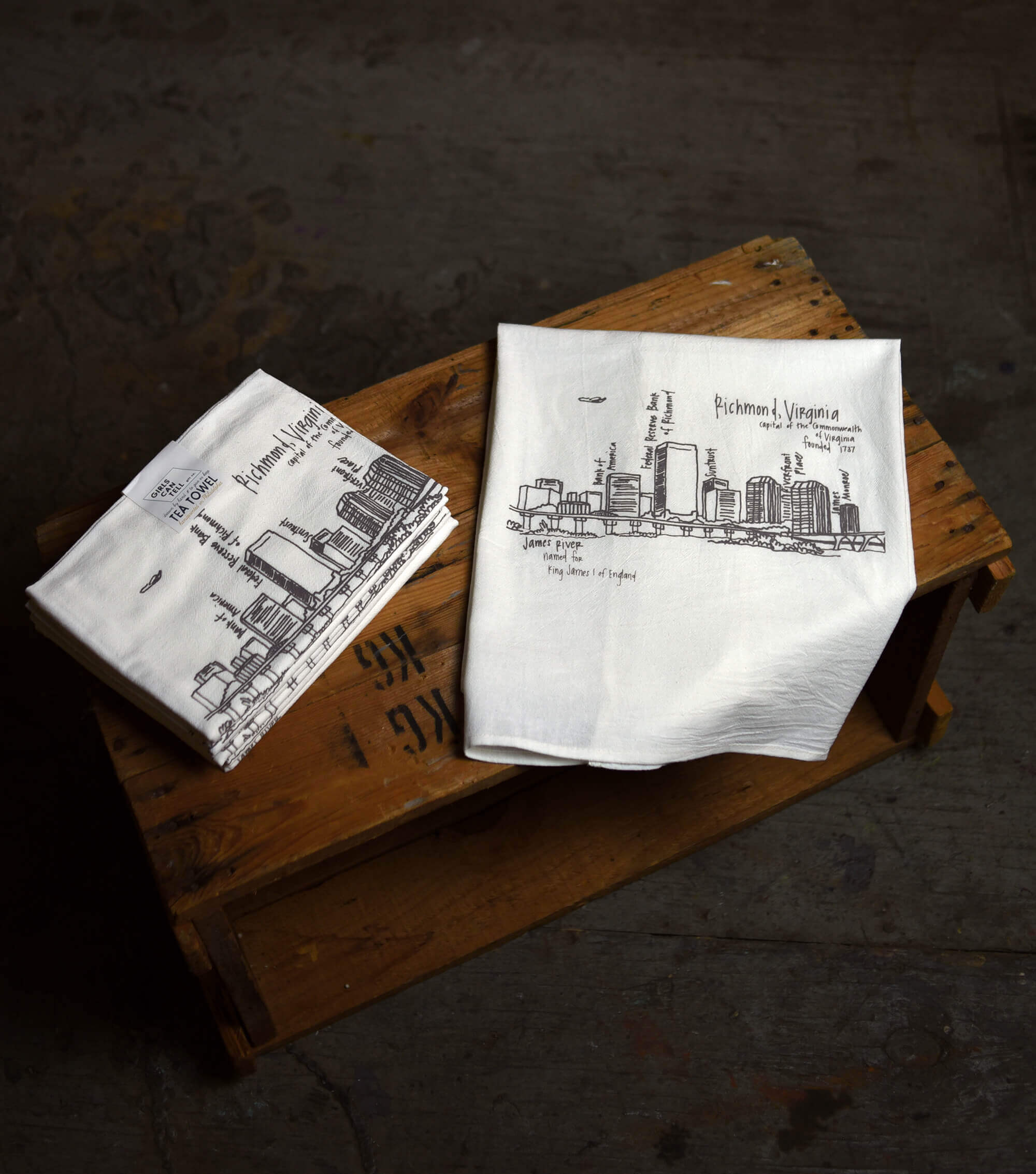 Richmond Baltimore Tea Towel