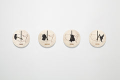 Time Zone Wall Clocks - Set of Four