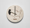 Pacific Time Zone Wall Clock