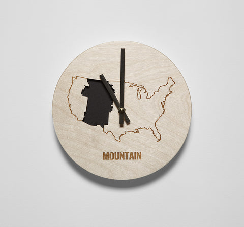 Mountain Time Zone Wall Clock