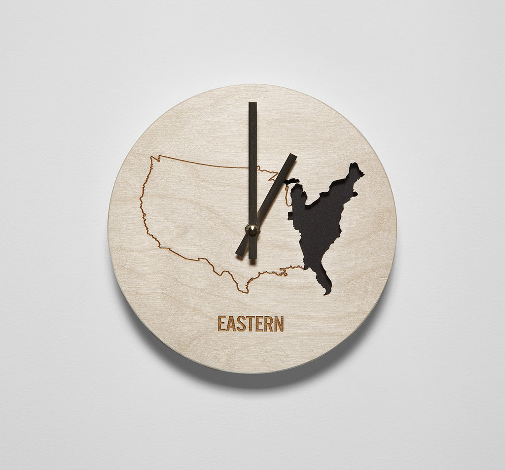 Eastern Time Zone Clock – Reed Wilson Design