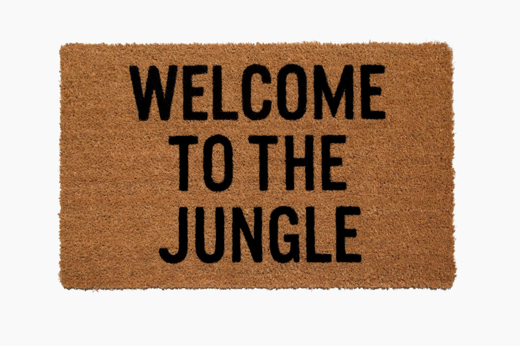 Welcome to the Jungle® Doormat (Hand Stenciled)