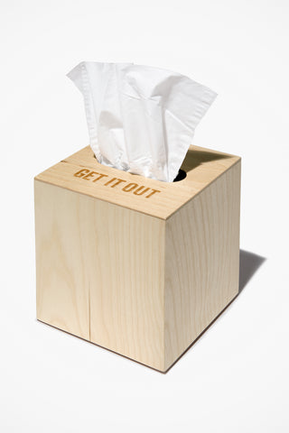 Get It Out Tissue Box Cover