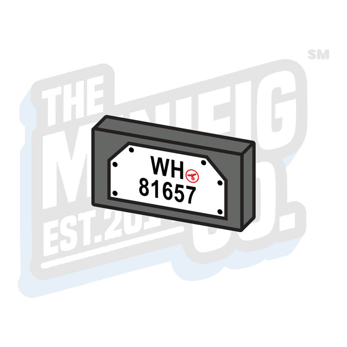 Custom Printed Lego - German License Plate Tile (1x2) - The Minifig Co.