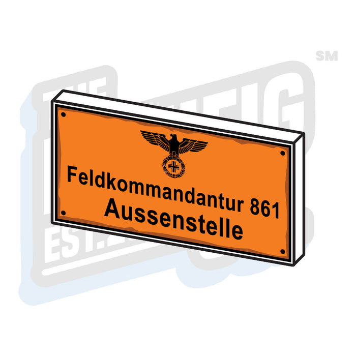 Custom Printed Lego - German Field Command Tile (2x4) - The Minifig Co.